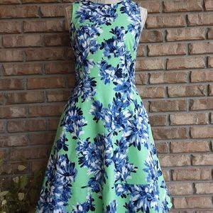 J.Crew sleeveless floral print dress vtg inspired